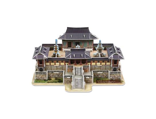 韓国伝統建物3Dパズル(仏国